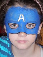 Captain America Face Painter Utah